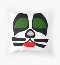 Peter Criss from KISS band, Catman makeup Throw Pillow