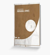 Indiana Jones Minimal Film Poster Greeting Card