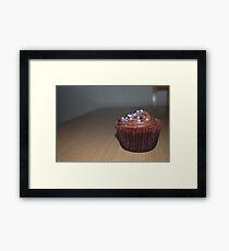 Homemade Chocolate cupcake Framed Print