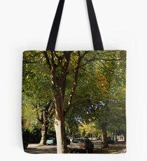 Sunlit Street Tote Bag
