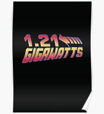 Back to the Future 1.21 Gigawatts Poster