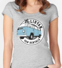 Back to the Future 'Libyan Van Rentals' Logo Fitted Scoop T-Shirt