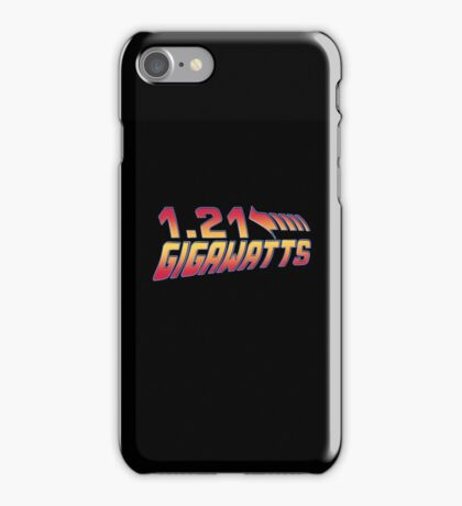 Back to the Future 1.21 Gigawatts iPhone Case/Skin