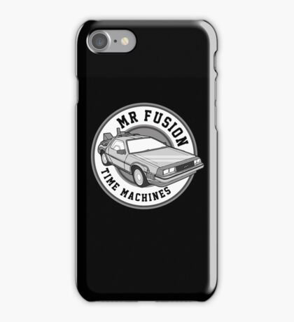 Back to the Future Mr Fusion Time Machines iPhone Case/Skin
