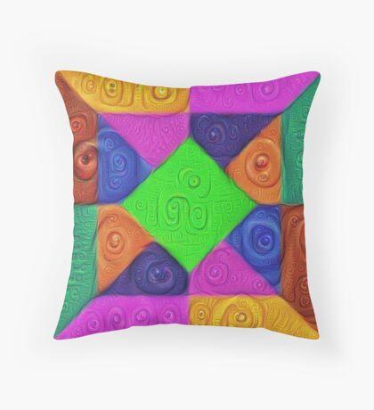 DeepDream Color Squares Visual Areas 5x5K v1448026462 Throw Pillow