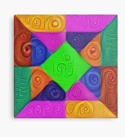 DeepDream Color Squares Visual Areas 5x5K v1448026462 Metal Print