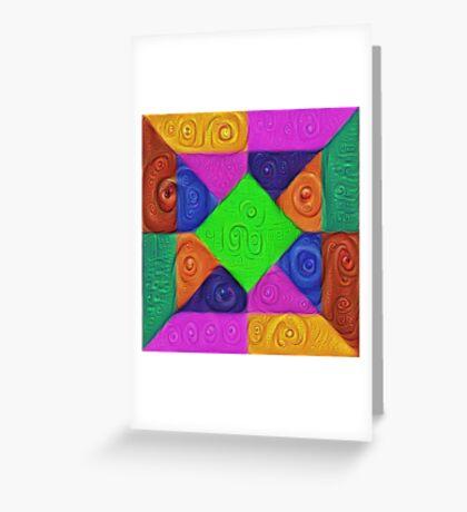 DeepDream Color Squares Visual Areas 5x5K v1448026462 Greeting Card