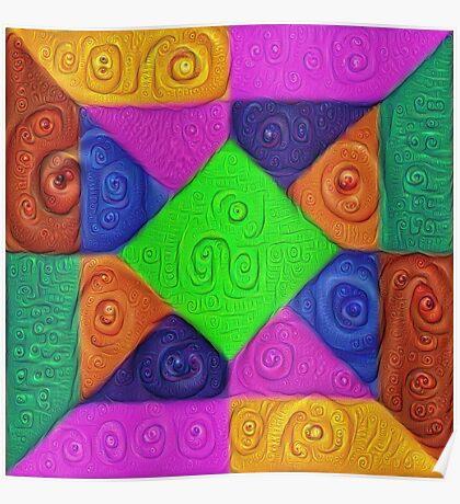 DeepDream Color Squares Visual Areas 5x5K v1448026462 Poster