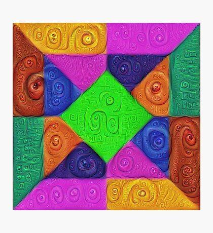 DeepDream Color Squares Visual Areas 5x5K v1448026462 Photographic Print