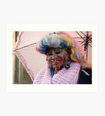 Pierced and colourful Art Print
