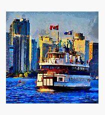 Boat on Ontario Lake Photographic Print