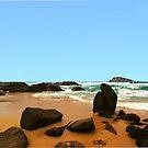A rocky beach by georgieboy98