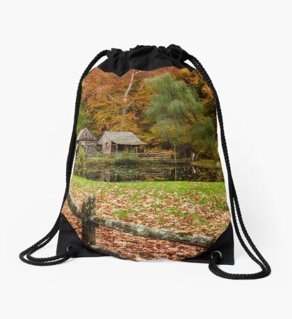Autumn At Cuttalossa Farm V Drawstring Bag