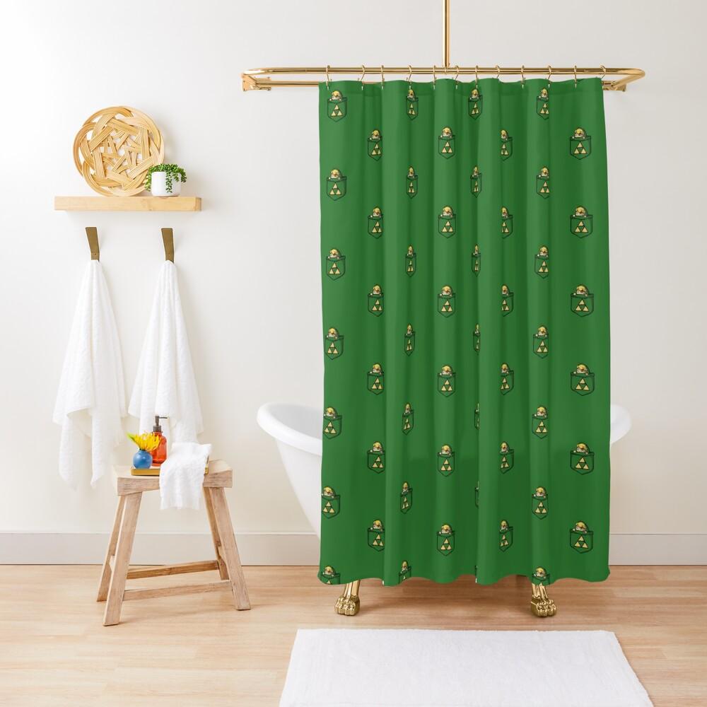 Legend of Zelda - Pocket Link Shower Curtain