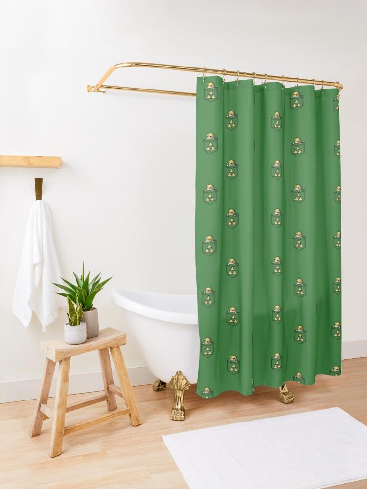 Alternate view of Legend of Zelda - Pocket Link Shower Curtain