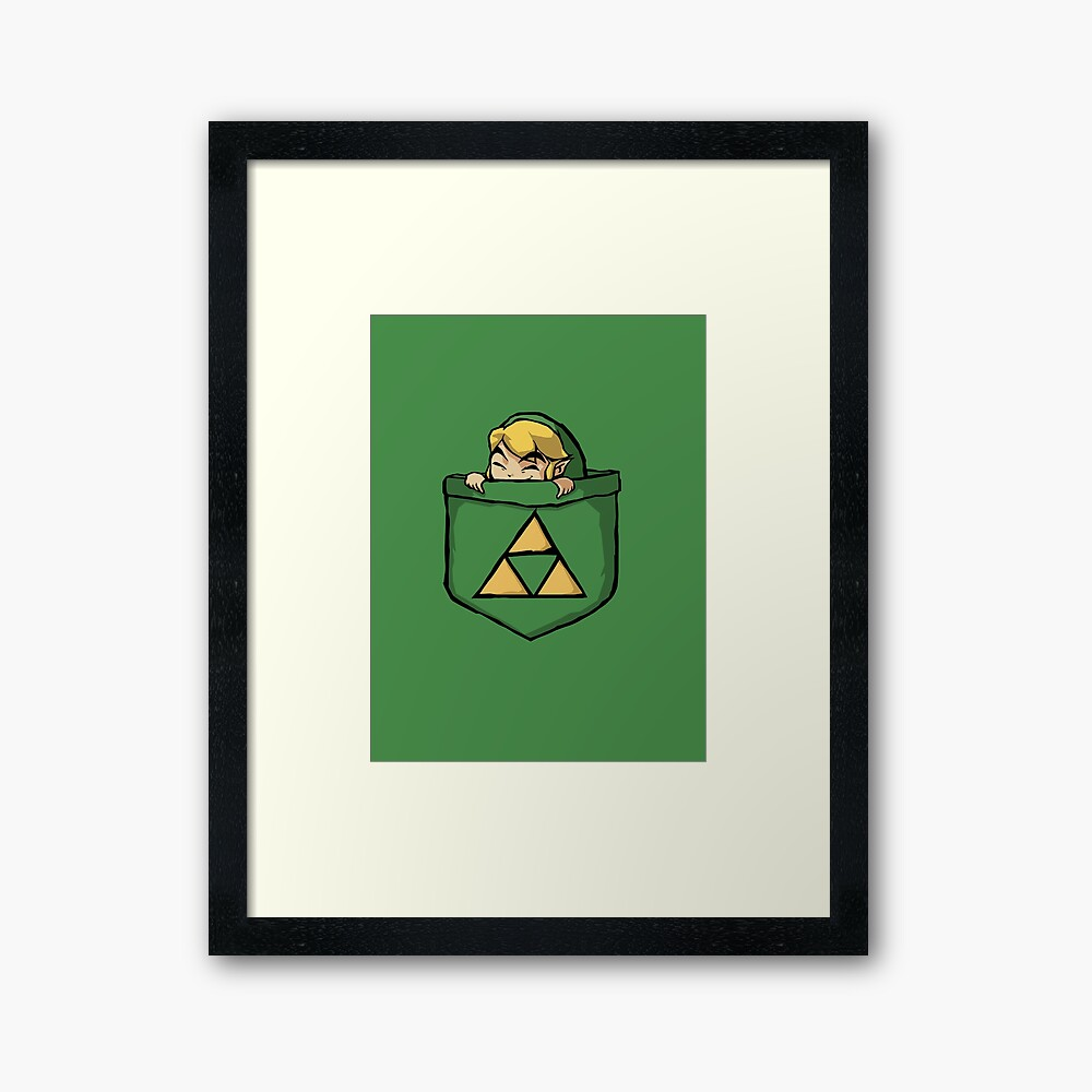 Legend of Zelda - Pocket Link Framed Art Print