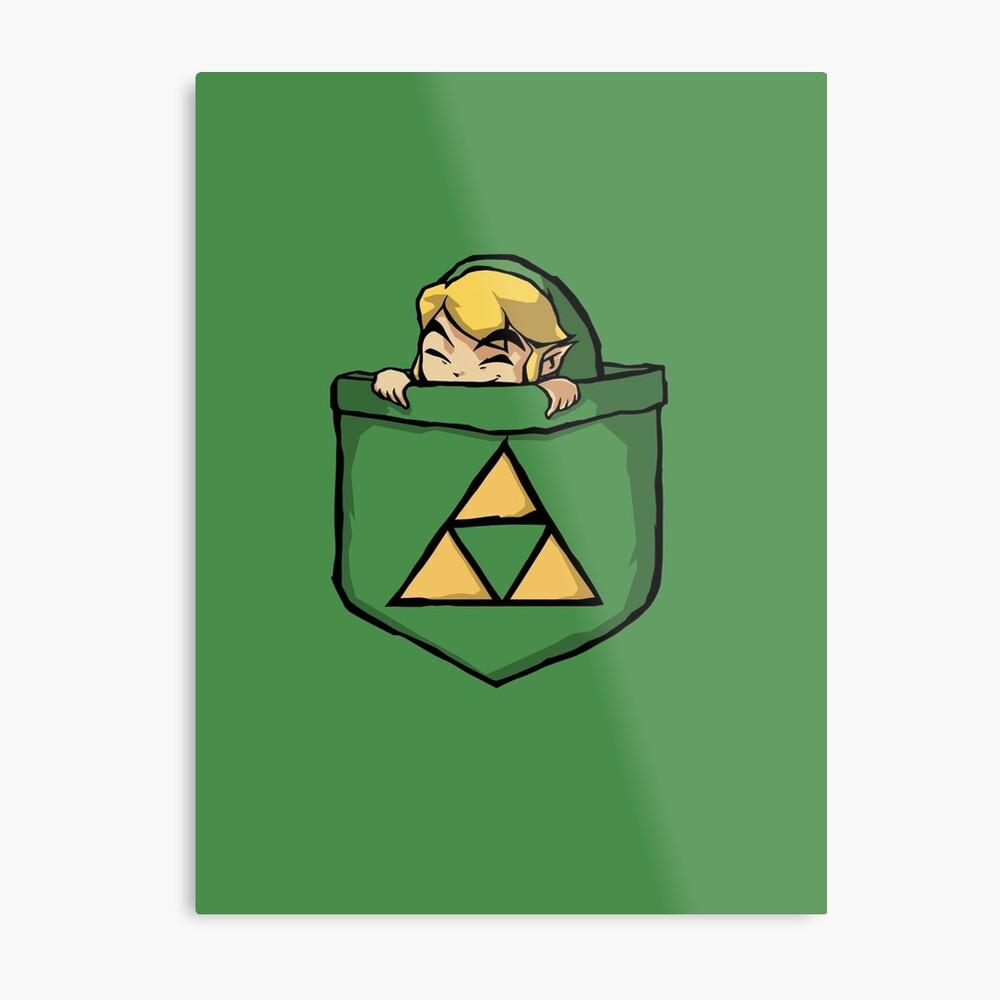 Legend of Zelda - Pocket Link Metal Print