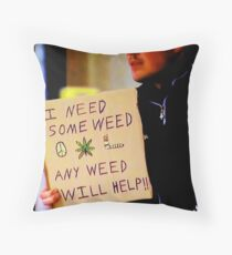 Hey... At least he is honest  Throw Pillow