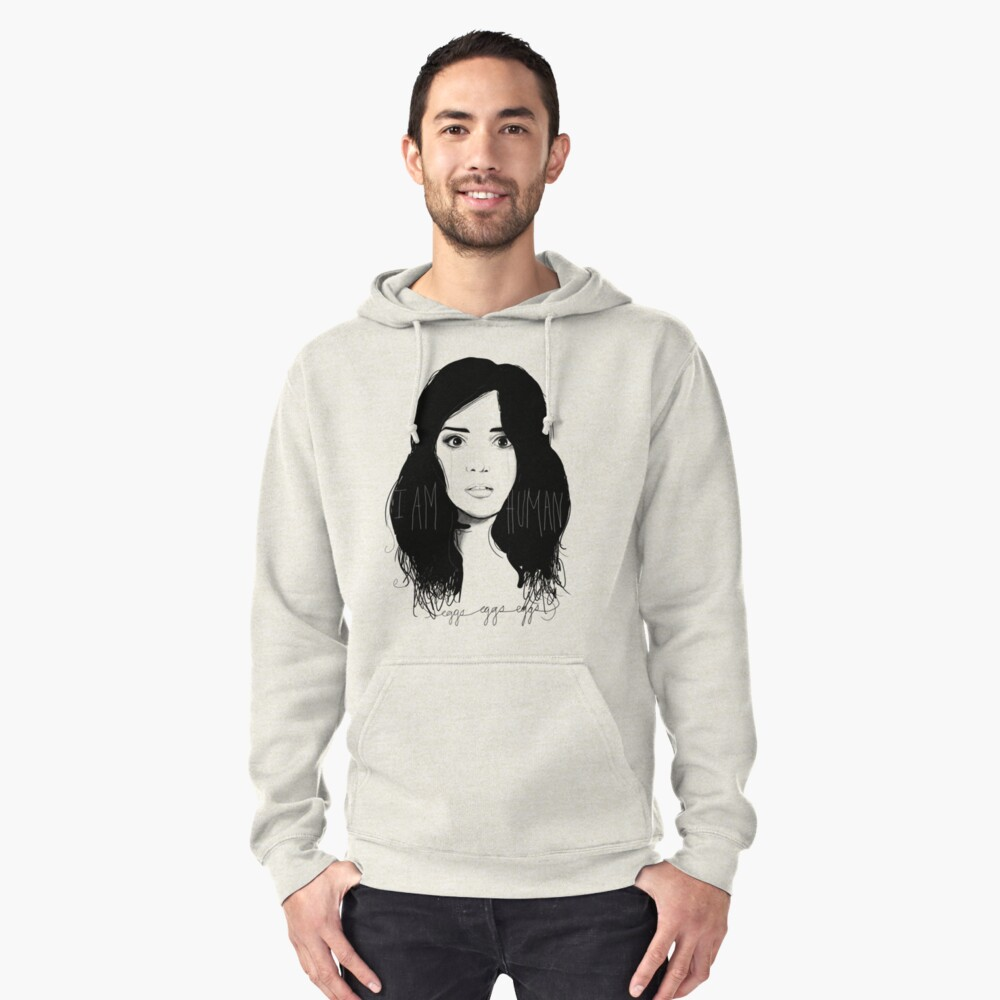 I am Human Pullover Hoodie Front