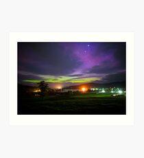Aurora Australis from Cygnet, Tasmania #2 Art Print