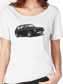 VW Golf GTI MK1 illustration black Women's Relaxed Fit T-Shirt