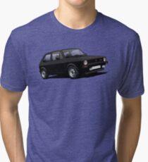 VW Golf GTI MK1 illustration black Tri-blend T-Shirt