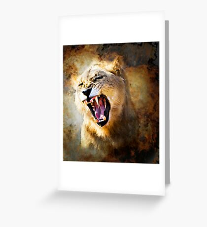 FIRE IN HIS SPIRIT (lion) Greeting Card