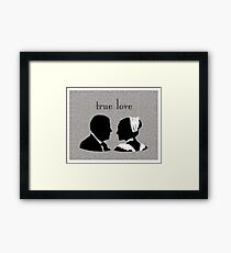 Anna and Bates true love Framed Print