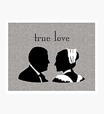 Anna and Bates true love Photographic Print