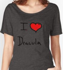 i love Halloween Dracula  Women's Relaxed Fit T-Shirt