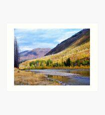 Glacier Park Autumn 4 Art Print