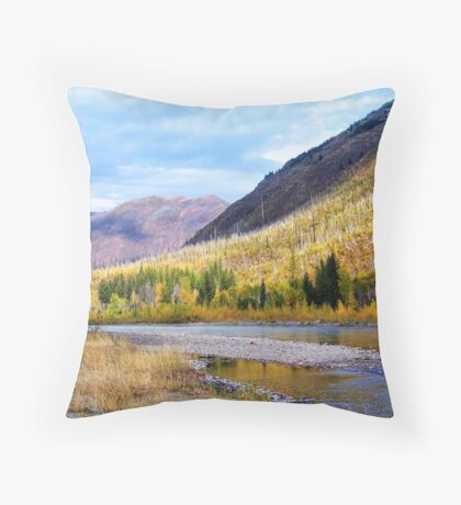 Glacier Park Autumn 4 Throw Pillow