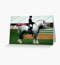 Big Grey Stallion Greeting Card