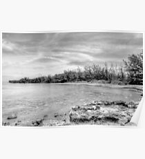 Coral Harbour Beach in Nassau, The Bahamas Poster