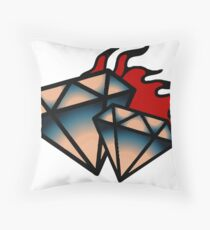 Cool Diamond Throw Pillow