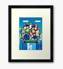 Mario Girls  Framed Print