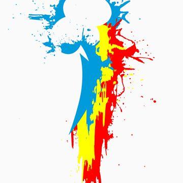 Dashie's Cutiemark Paint Splat by Nightmarespoon