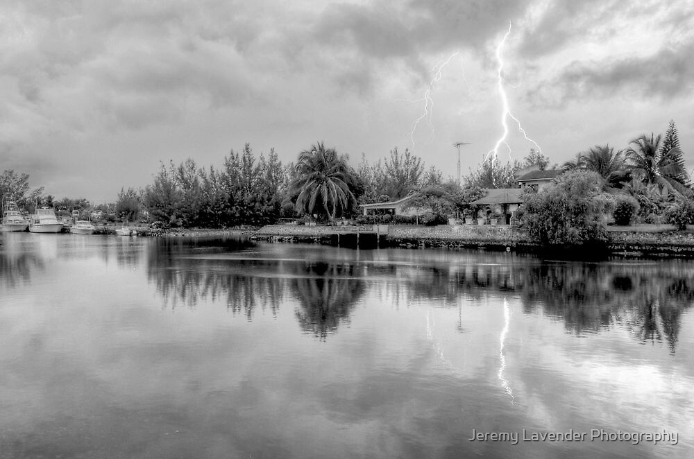 Lightnings over Coral Harbour in Nassau, The Bahamas by Jeremy Lavender Photography