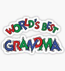 "Grandma ""World's Best Grandma"" Sticker"