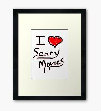 i love halloween scary movies  Framed Print