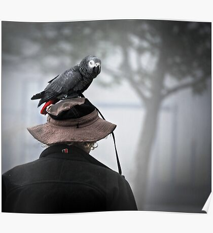 I always wear a bird on my head Poster