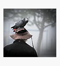 I always wear a bird on my head Photographic Print