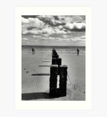 Bridlington beach Art Print