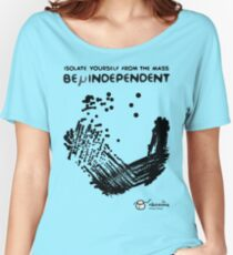 Camiseta ancha para mujer Be μindependent