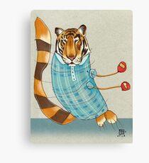 Tiger in Stripes Canvas Print