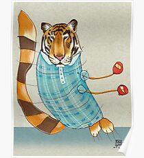 Tiger in Stripes Poster