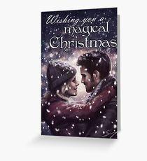 Captain Swan Magical Christmas Greeting Card