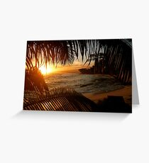 Leafy Sunset Greeting Card