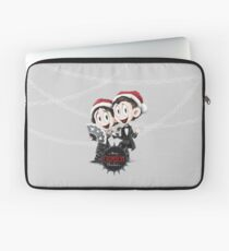 Happy Crimson Christmas Laptop Sleeve