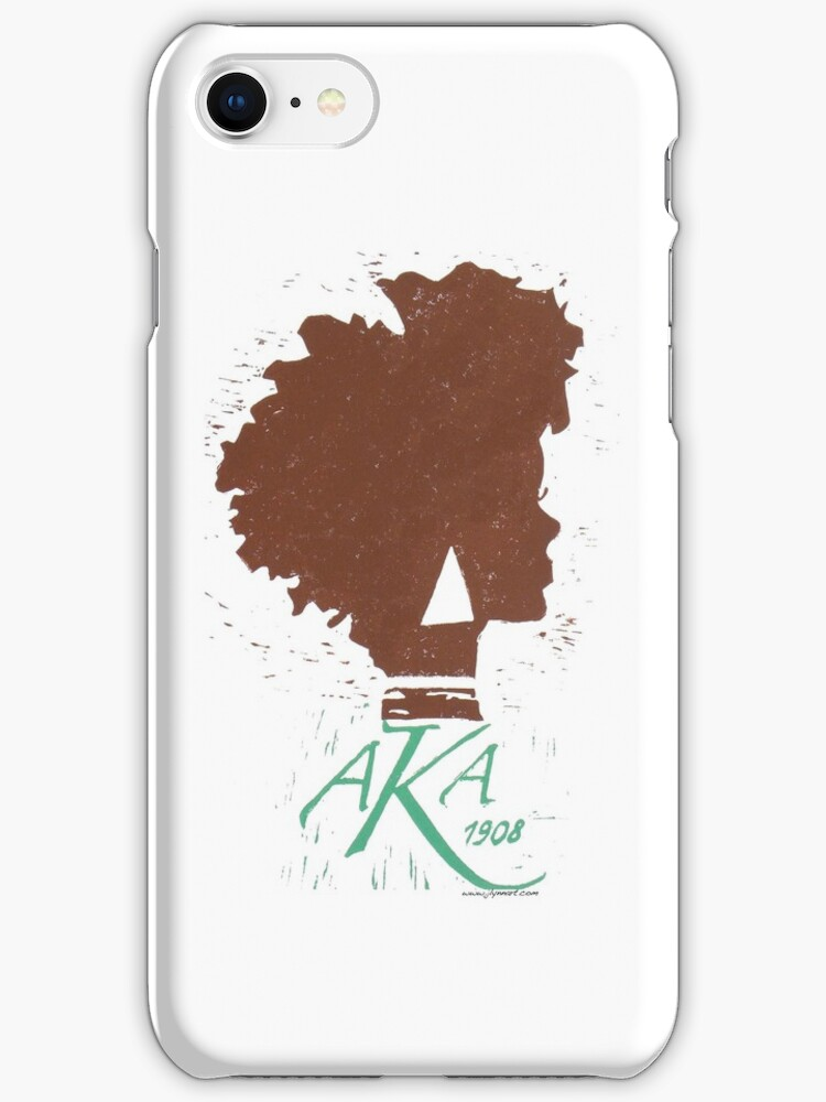 Alpha Kappa Alpha iPhone Case by jlynnart